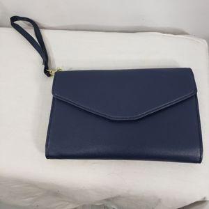 Handbags - Designer NWOT Navy Wristlet Clutch Wallet